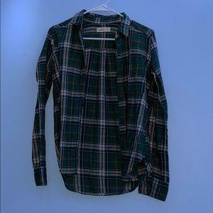 Green hollister flannel